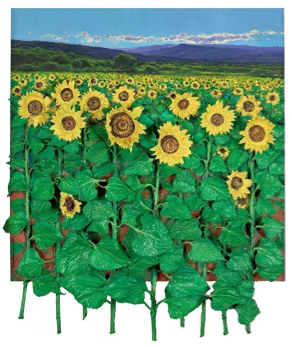 Campo de Girasoles by Ramon Vila -  sized 30x35 inches. Available from Whitewall Galleries